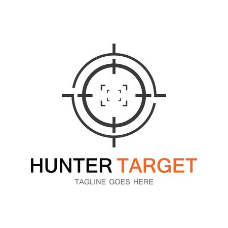 Target hunter icon vector illustration template design