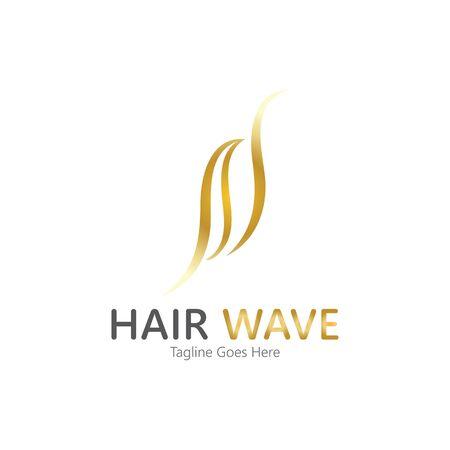 Hair wave  logo vector icon illustration design Standard-Bild - 131907932