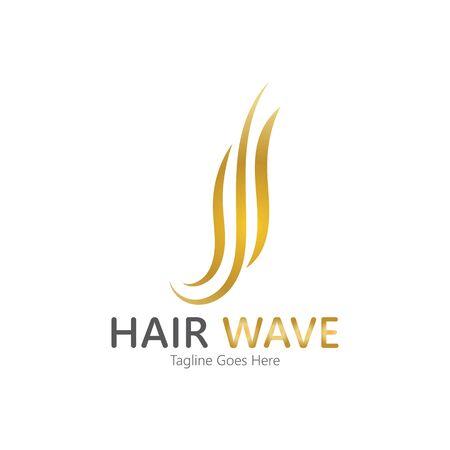 Hair wave  logo vector icon illustration design Standard-Bild - 131907937