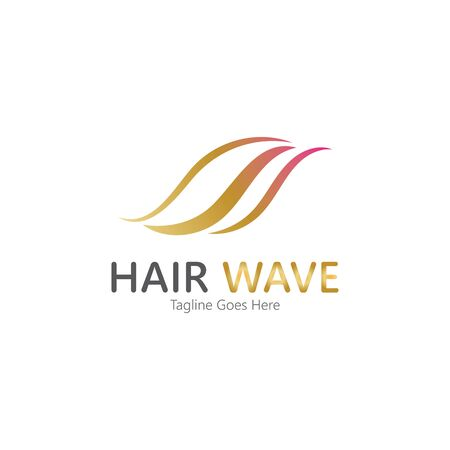 Hair wave  logo vector icon illustration design Standard-Bild - 131907938