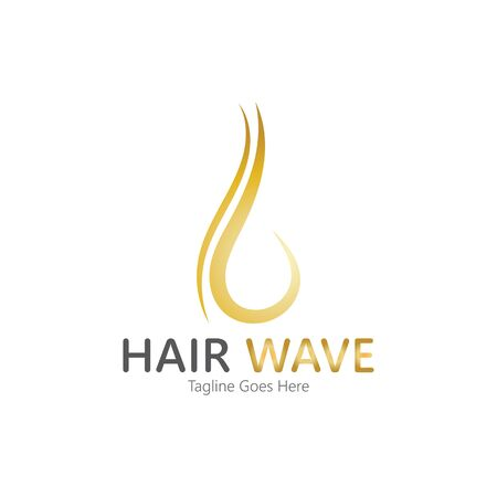 Hair wave  logo vector icon illustration design Standard-Bild - 131907940