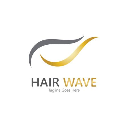 Hair wave  logo vector icon illustration design Standard-Bild - 131907941