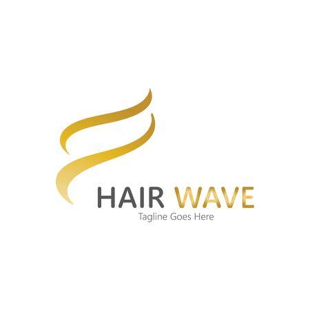 Hair wave  logo vector icon illustration design Standard-Bild - 131907974