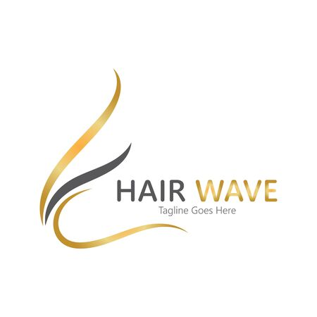 Hair wave  logo vector icon illustration design Standard-Bild - 131907978