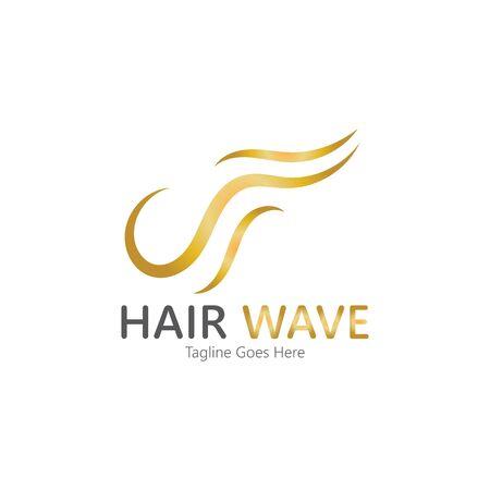 Hair wave  logo vector icon illustration design Standard-Bild - 131907985
