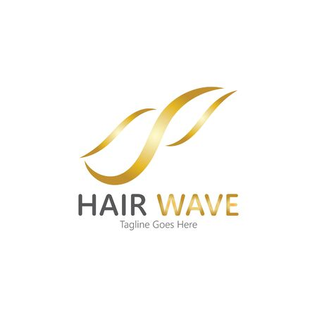 Hair wave  logo vector icon illustration design Standard-Bild - 131907987
