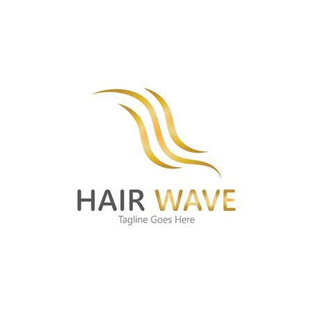 Hair wave  logo vector icon illustration design Standard-Bild - 131907989