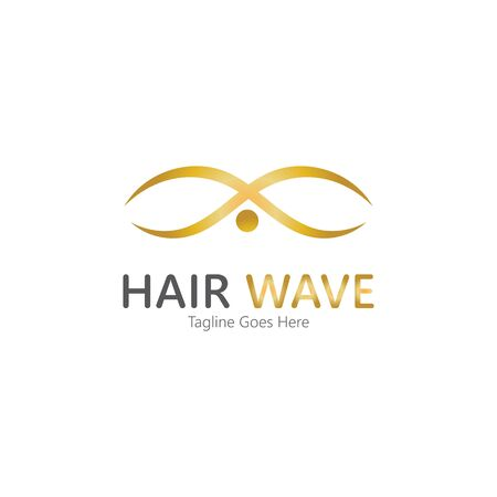 Hair wave  logo vector icon illustration design Standard-Bild - 131907993