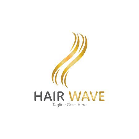 Hair wave  logo vector icon illustration design Standard-Bild - 131907994