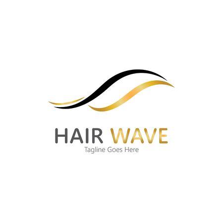 Hair wave  logo vector icon illustration design Standard-Bild - 131907995