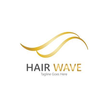 Hair wave  logo vector icon illustration design Standard-Bild - 131907997