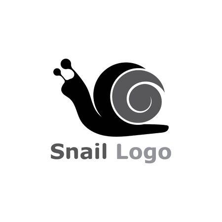 Escargot logo modèle vecteur icône illustration design