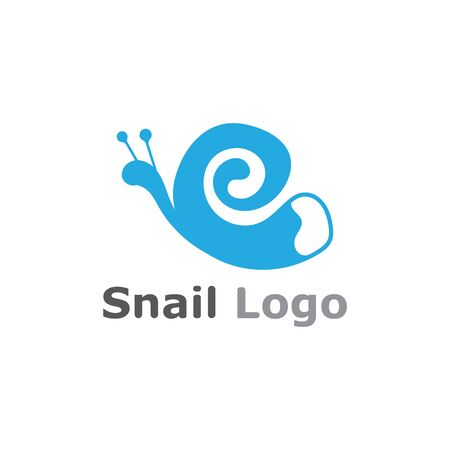 Snail logo template vector icon illustration design