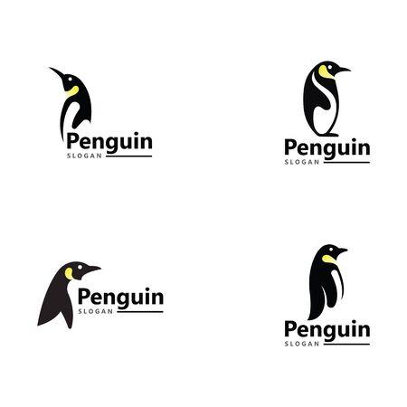 Penguin Logo Template vector icon illustration design