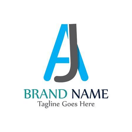 AJ letter logo creative modern template vector design