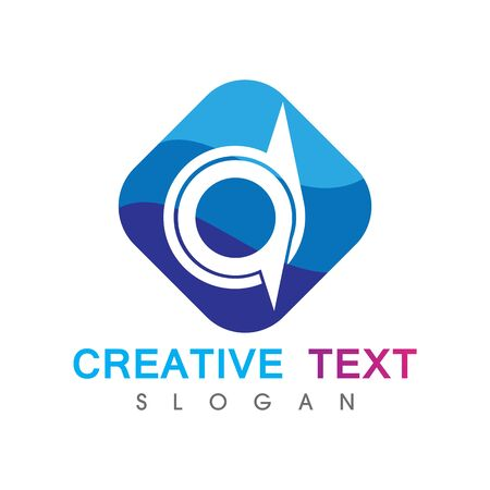 Creative initial AD logo. Abstract business design template