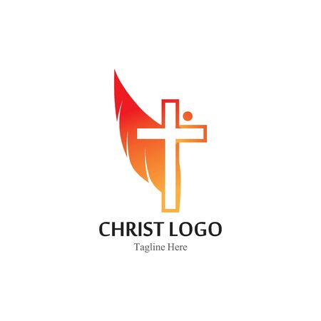 Christ logo template design vector, creative simple icon