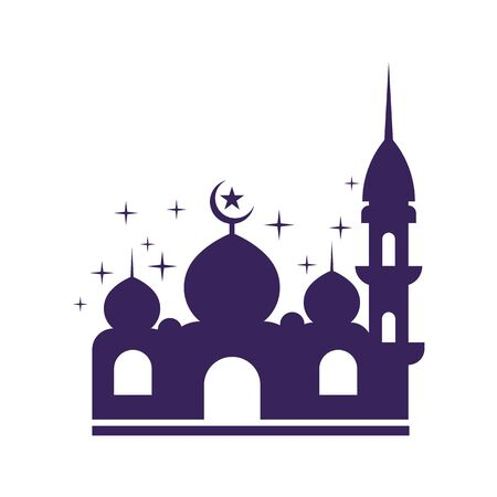 Moslem mosque icon vector Illustration design template