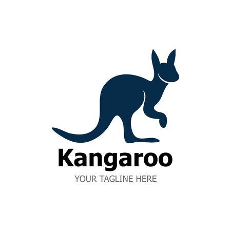 Kangaroo Logo Template vector illustration simple icon Illustration