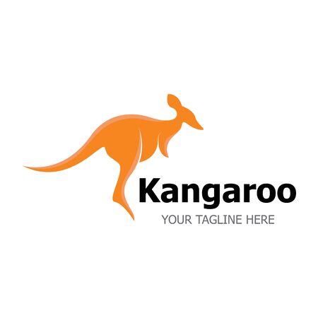 Kangaroo Logo Template vector illustration simple icon 일러스트