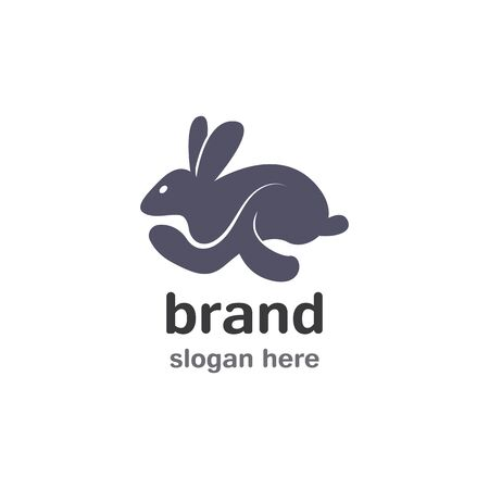 Rabbit Logo template vector icon illustration design Illustration