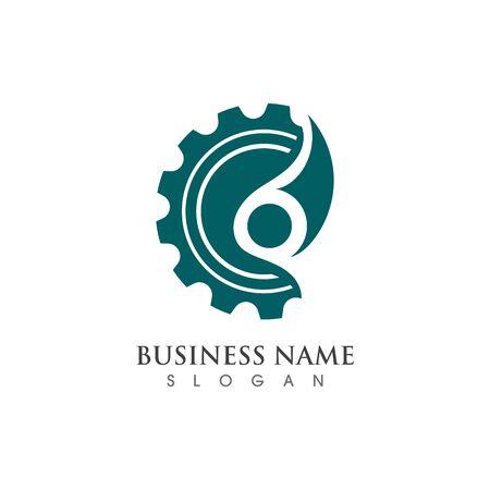 Gear Logo creative Template vector icon illustration design Banco de Imagens - 133530100