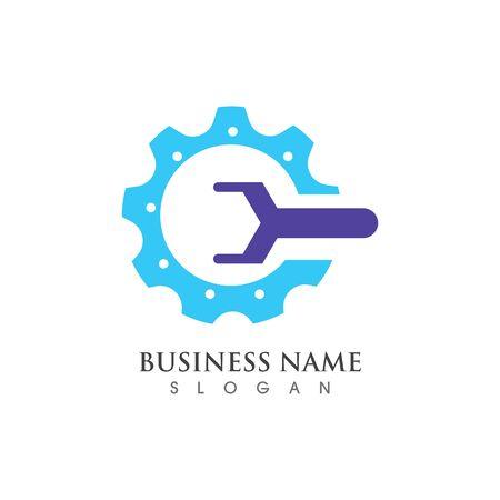 Gear Logo creative Template vector icon illustration design Banco de Imagens - 133530103