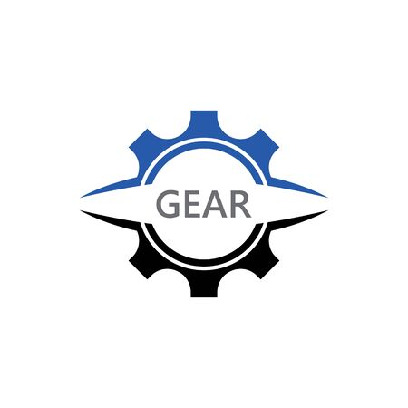 Gear Logo creative Template vector icon illustration design Banco de Imagens - 133530113