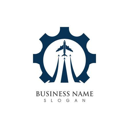 Gear Logo creative Template vector icon illustration design Banco de Imagens - 133530116