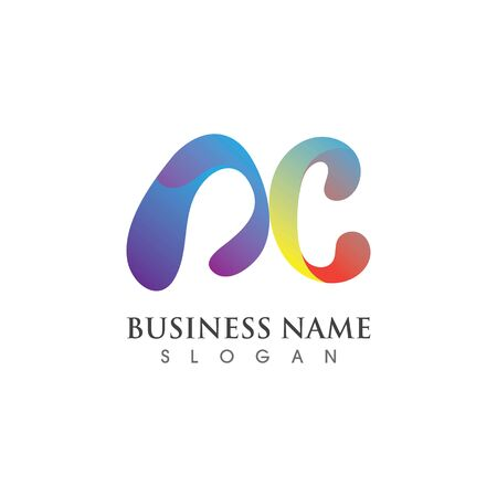 Initial AC  Logo for business icon template vector design