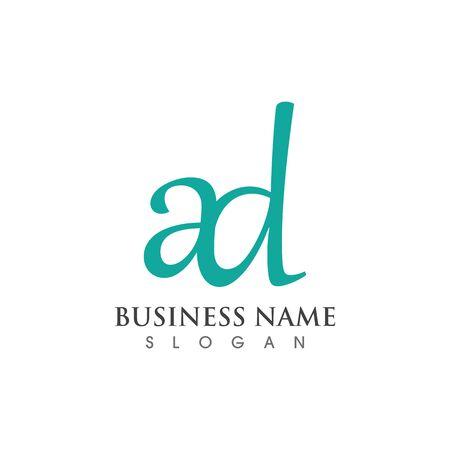 AD letter logo creative modern template vector design