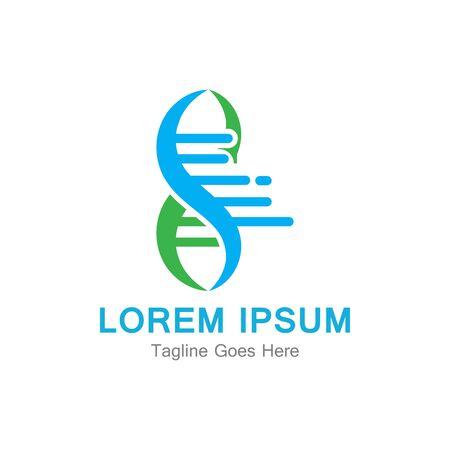 DNA Genetic Icon Design Template. Vector Illustration