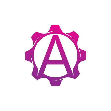 A Letter logo creative concept template design