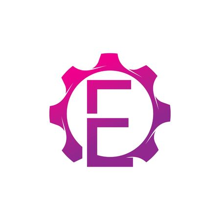 E Letter logo creative concept template design Ilustrace