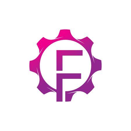 F Letter logo creative concept template design