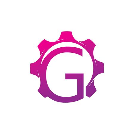 G Letter logo creative concept template design Ilustrace