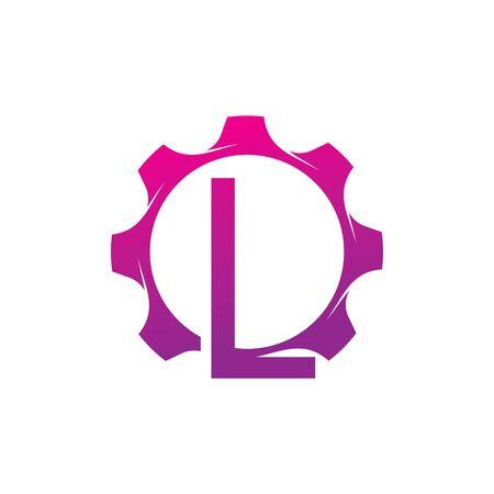 L Letter logo creative concept template design