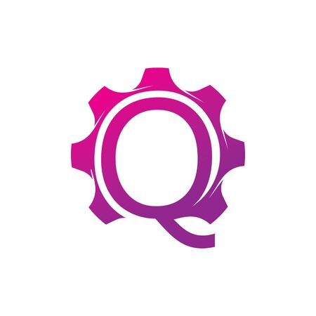 Q Letter logo creative concept template design Ilustrace