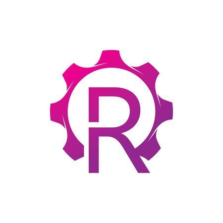 R Letter logo creative concept template design