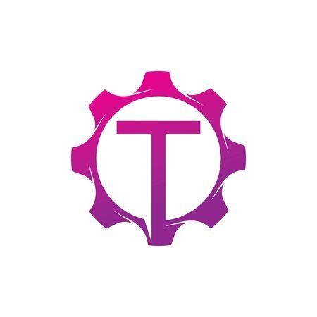 T Letter logo creative concept template design