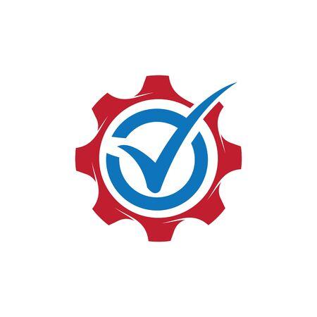 Check mark logo  creative concept template design