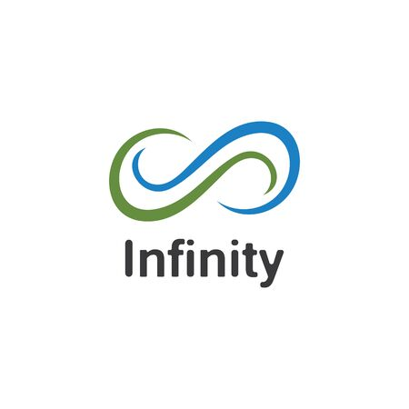 Infinity logo design inspiration vector illustration template