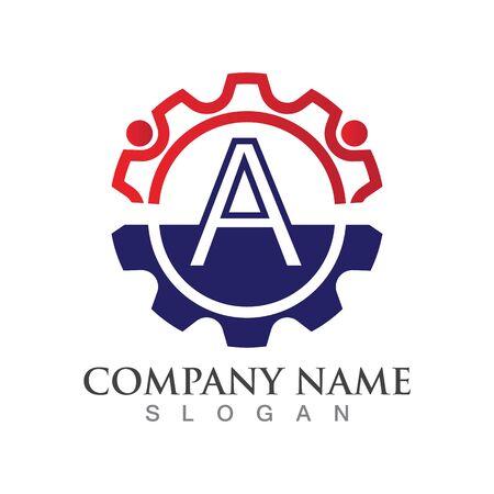 A Letter logo or symbol creative template design Ilustrace