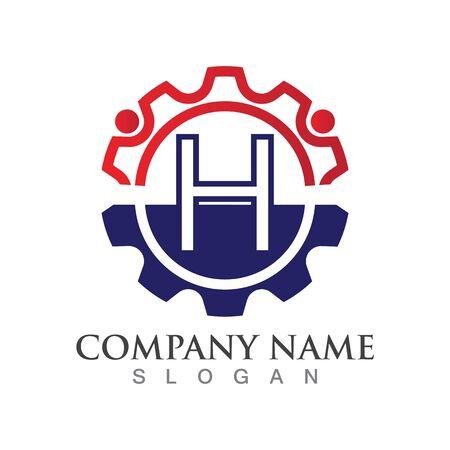H Letter logo or symbol creative template design