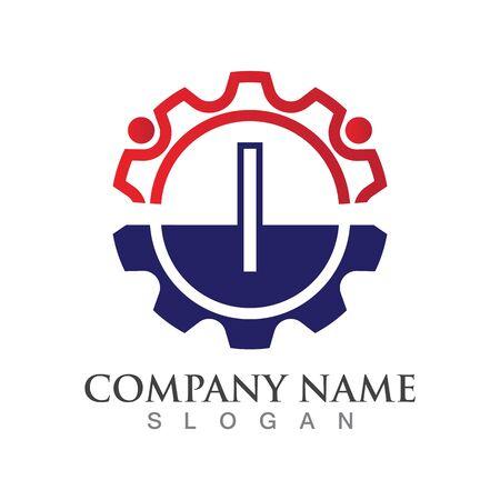 I Letter logo or symbol creative template design Ilustrace