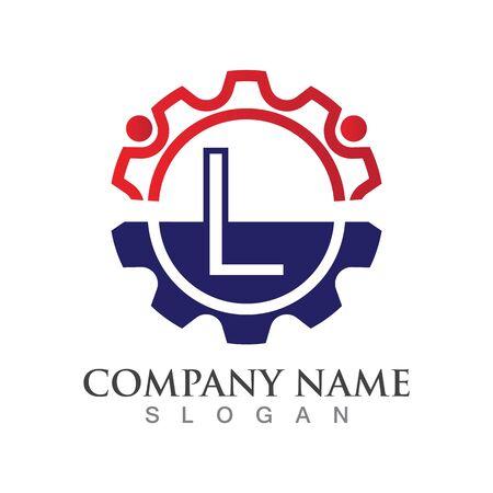 L  Letter logo or symbol creative template design