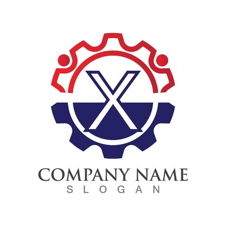 X Letter logo or symbol creative template design Ilustrace