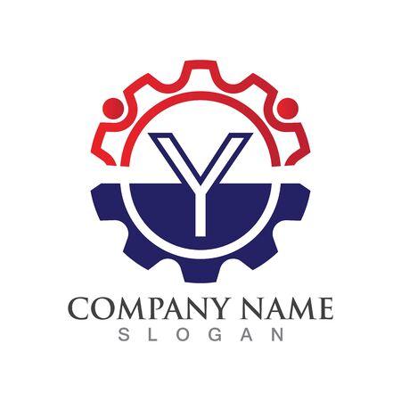 Y Letter logo or symbol creative template design Ilustrace