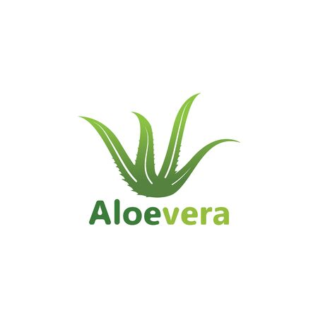 Aloe vera logo vector illustration template design