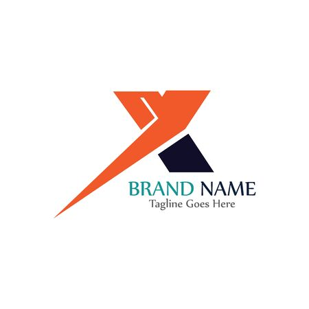 Simple and modern logo of letter X creative design template